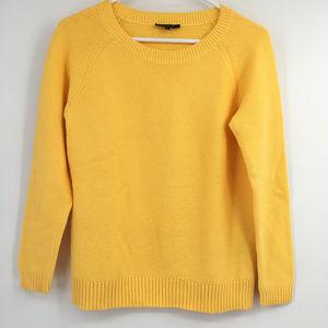 Lafayette 148 waffle knit sweater yellow small